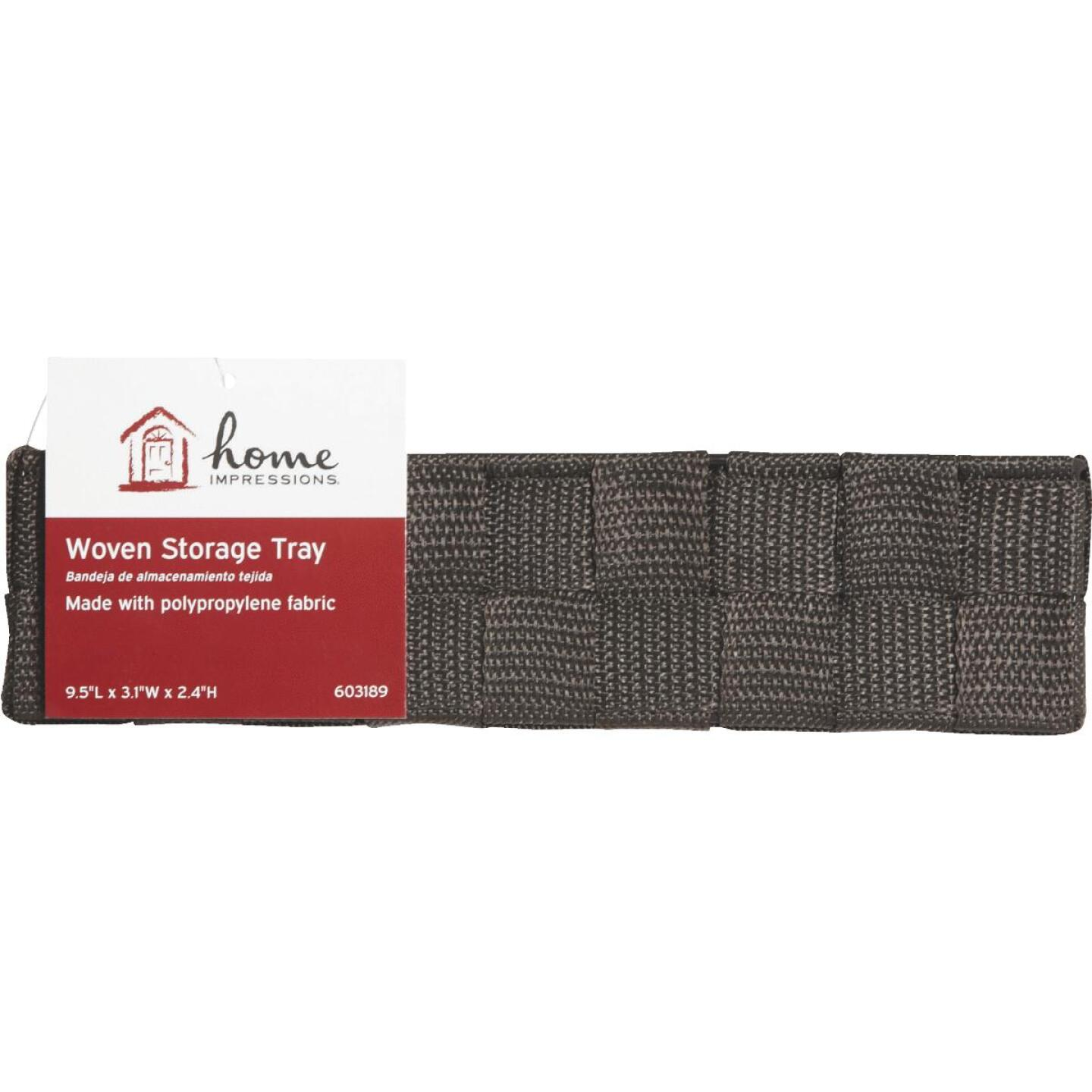 Home Impressions 3.25 In. W. x 2.25 In. H. x 9.5 In. L. Woven Storage Tray, Brown Image 2