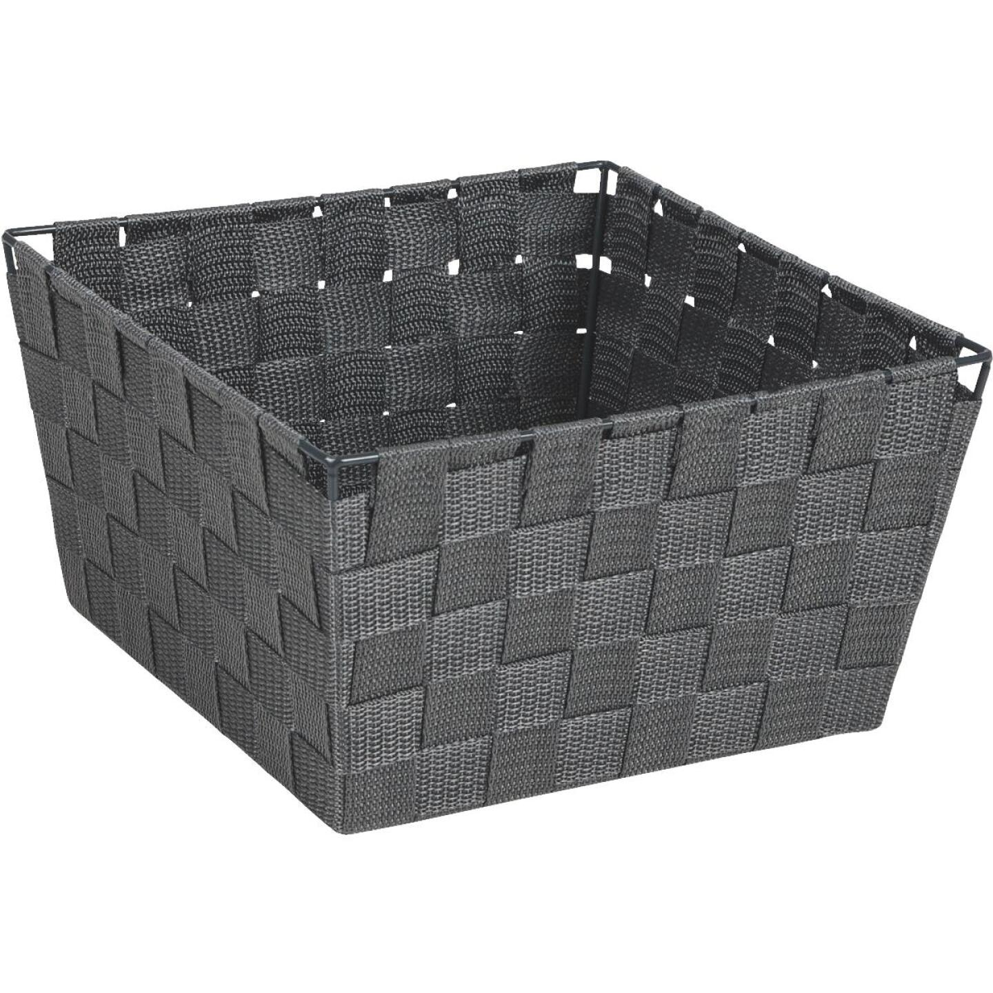 Home Impressions 9.75 In. x 5.5 In. H. Woven Storage Basket, Gray Image 1
