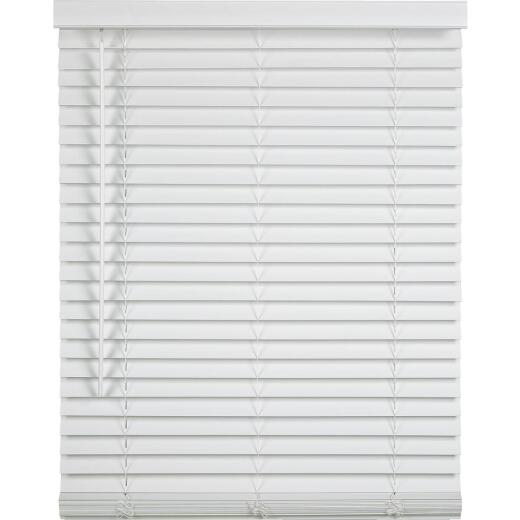 Home Impressions 23 In. x 72 In. x 2 In. White Faux Wood Cordless Blind