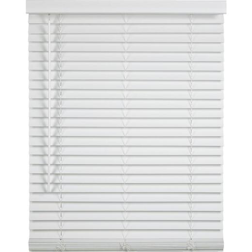 Home Impressions 27 In. x 72 In. x 2 In. White Faux Wood Cordless Blind