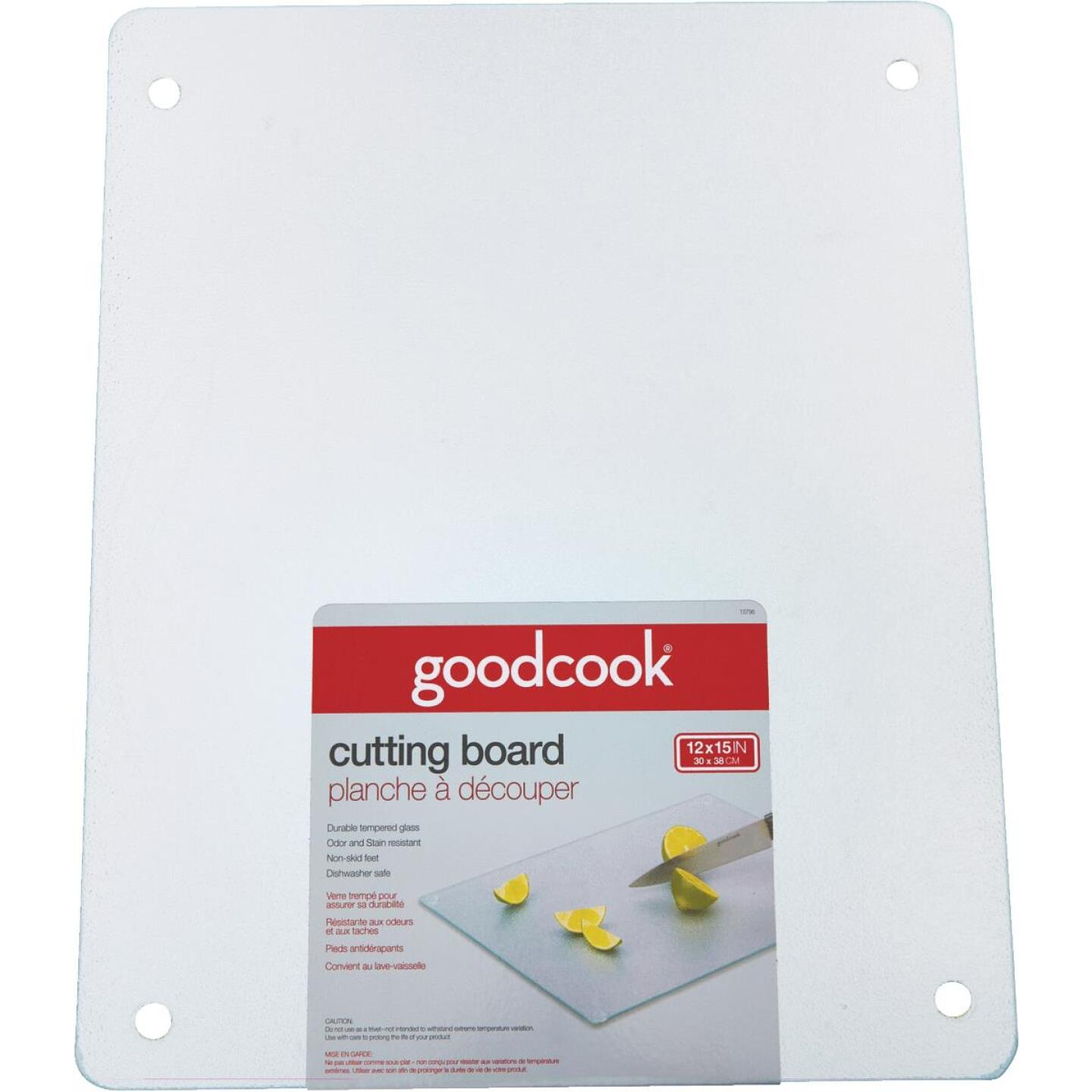 GoodCook 12 In. x 15 In. Silver Tempered Glass Cutting Board Image 1
