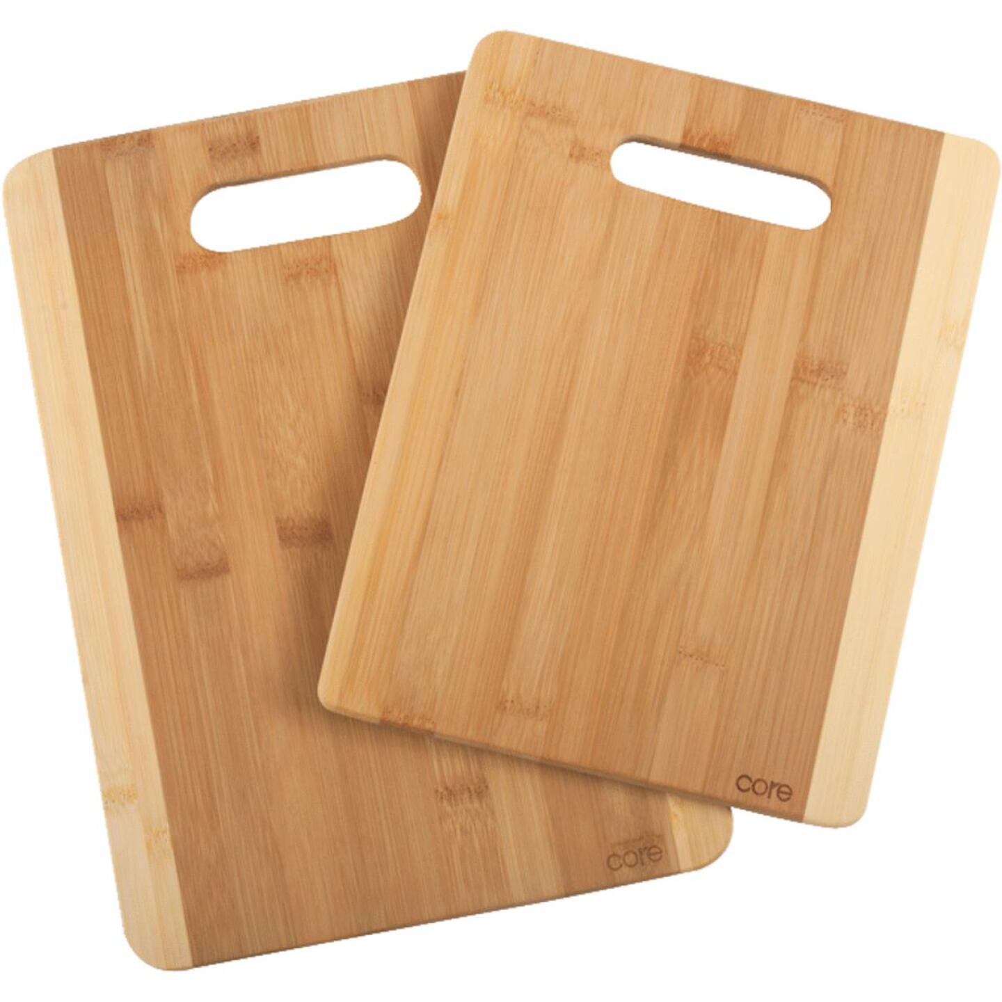 Core Daisy 2-Tone Natural Bamboo Cutting Board (2 Pack) Image 1
