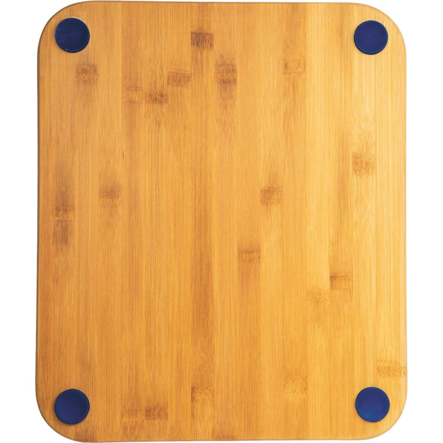 Core Natural Bamboo Sapphire 13.5 In. Foot Grip Cutting Board Image 1