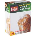 Do it Best 39 Gal. Clear Flap Tie Lawn & Leaf Bag (40-Count) Image 1