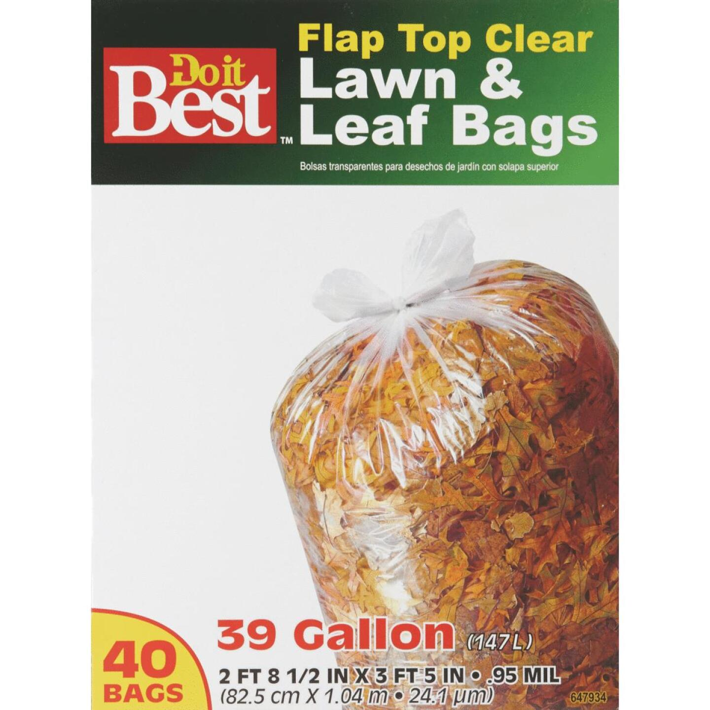 Do it Best 39 Gal. Clear Flap Tie Lawn & Leaf Bag (40-Count) Image 6
