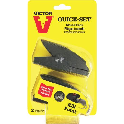Victor Quick-Set Mechanical Mouse Trap (2-Pack)