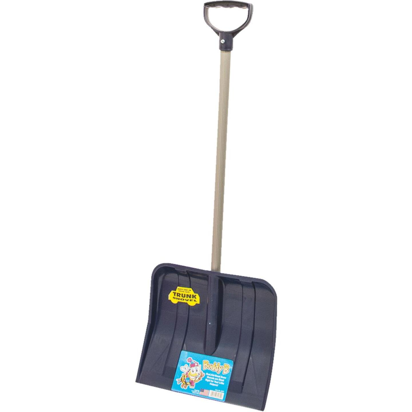 Buddy B 12 In. Poly Childrens Snow Shovel with 24 In. Poly Handle Image 1