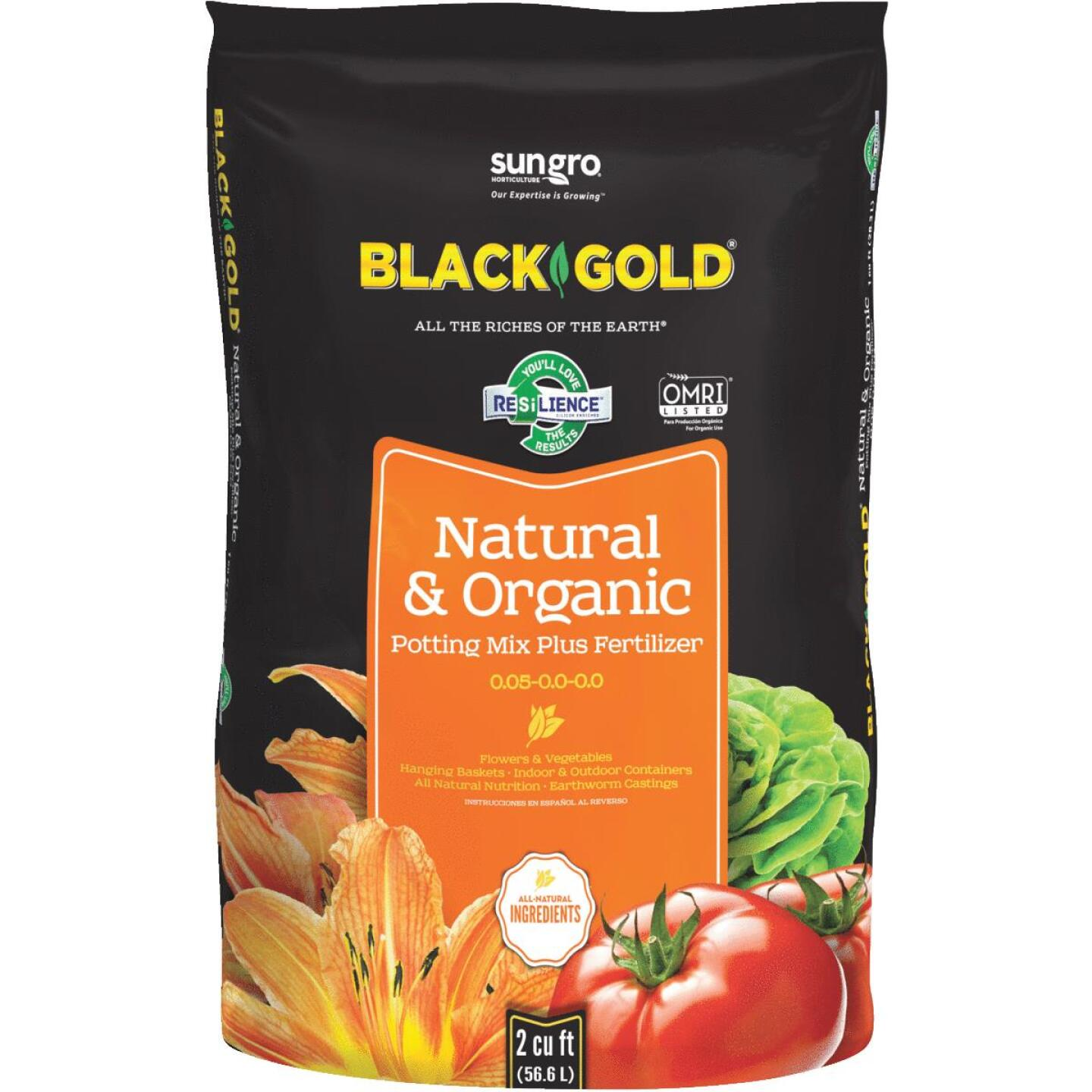 Black Gold 2 Cu. Ft. 47-1/2 Lb. All Purpose Natural & Organic Potting Soil Image 1