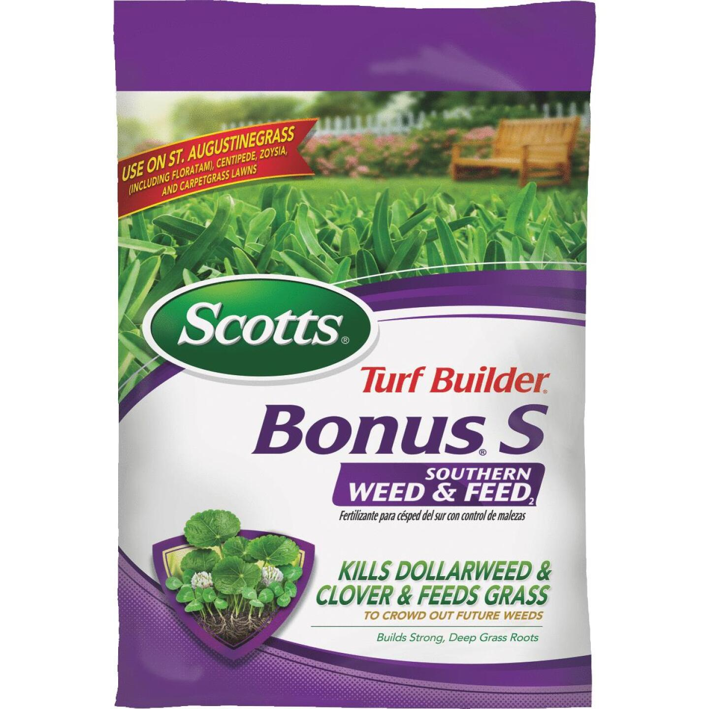 Scotts Turf Builder Bonus S Southern Weed & Feed 33.39 Lb. 10,000 Sq. Ft. 29-0-10 Lawn Fertilizer with Weed Killer Image 1