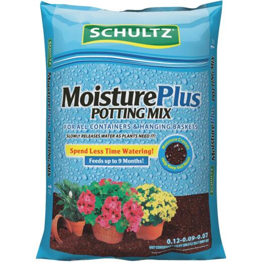 Schultz MoisturePlus 1 Cu. Ft. 23-1/2 Lb. All Purpose Containers & Hanging Baskets Potting Soil