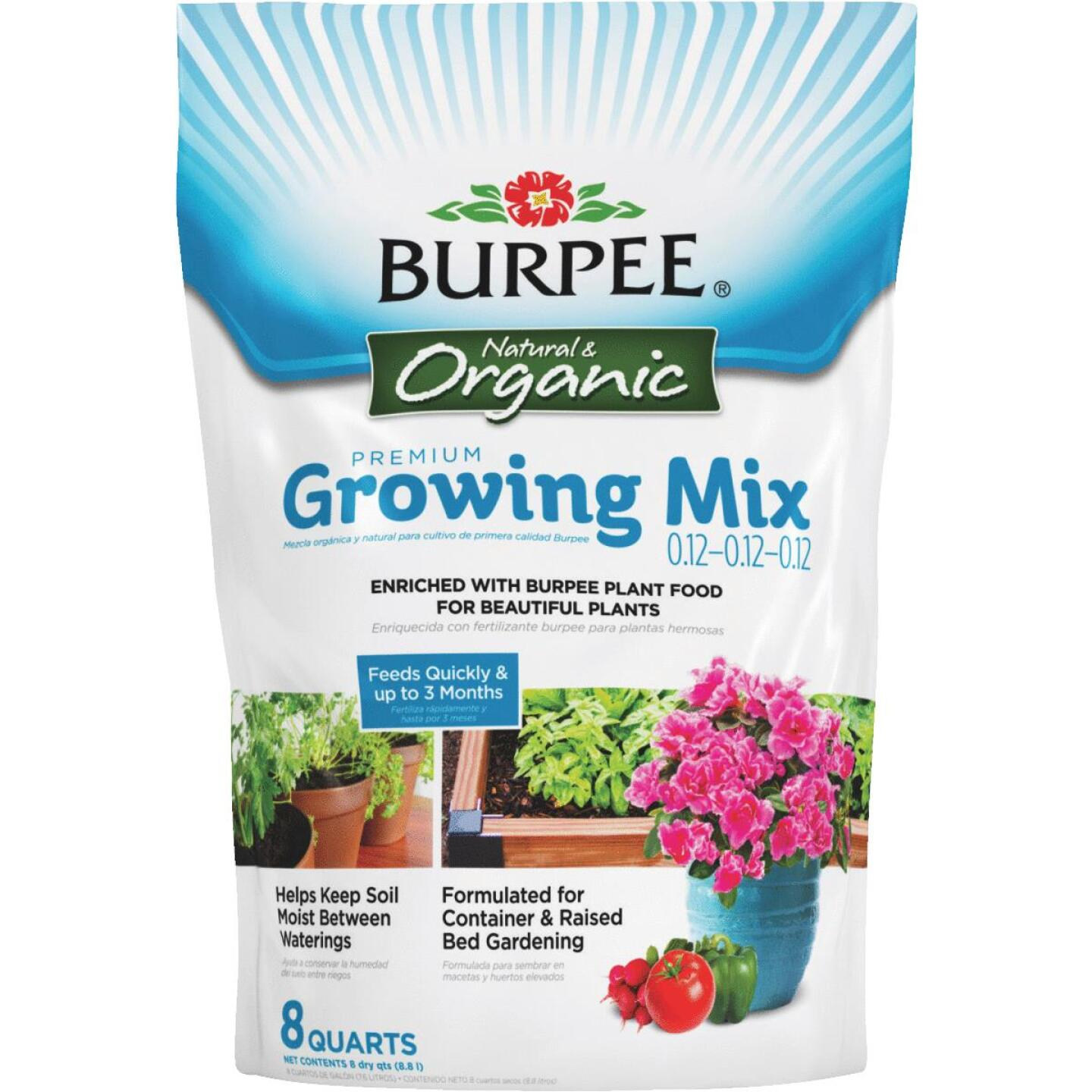 Burpee 8 Qt. All Purpose Container Organic Seed Starting Mix Image 1