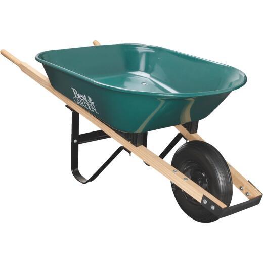 Best Garden 4 Cu. Ft. Flat Free Tire Steel Wheelbarrow