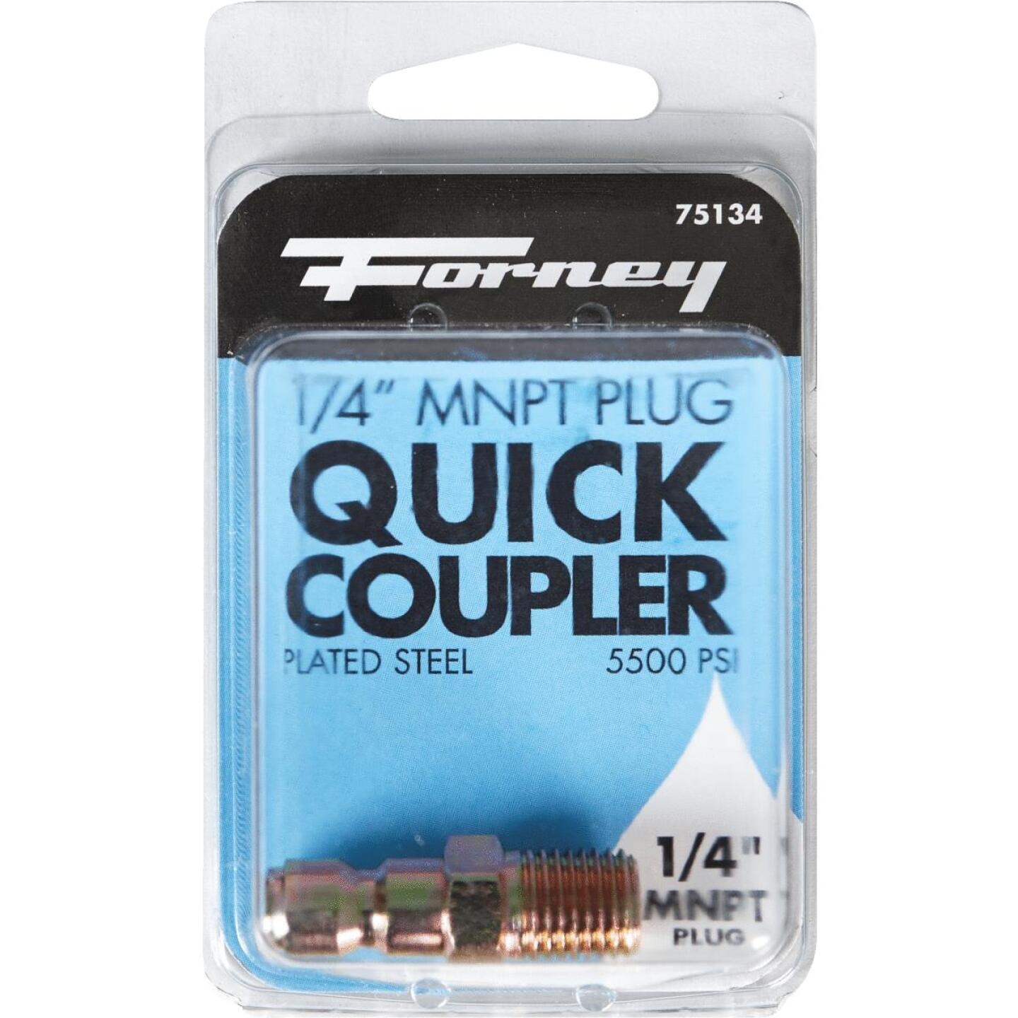Forney 1/4 In. Male Quick Connect Pressure Washer Plug Image 2