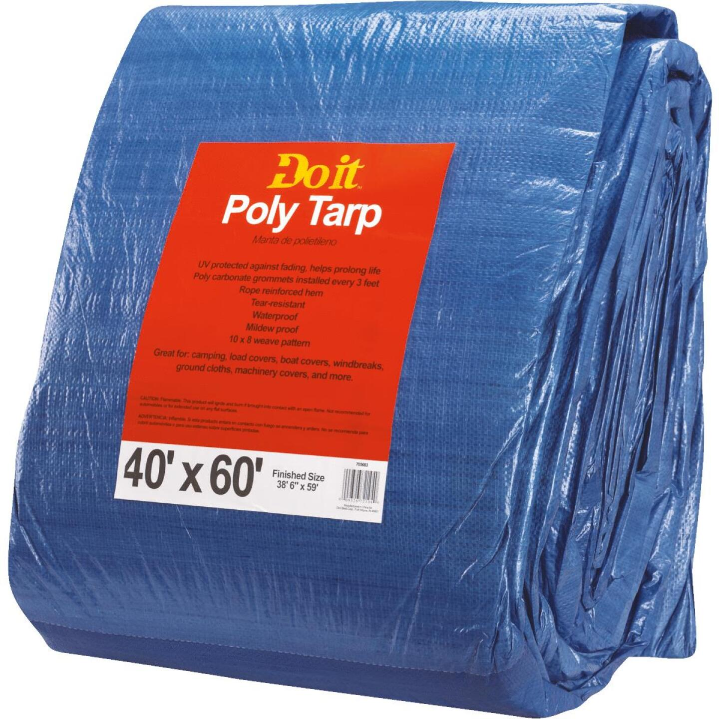 Do it Blue Woven 40 Ft. x 60 Ft. Medium Duty Poly Tarp Image 2