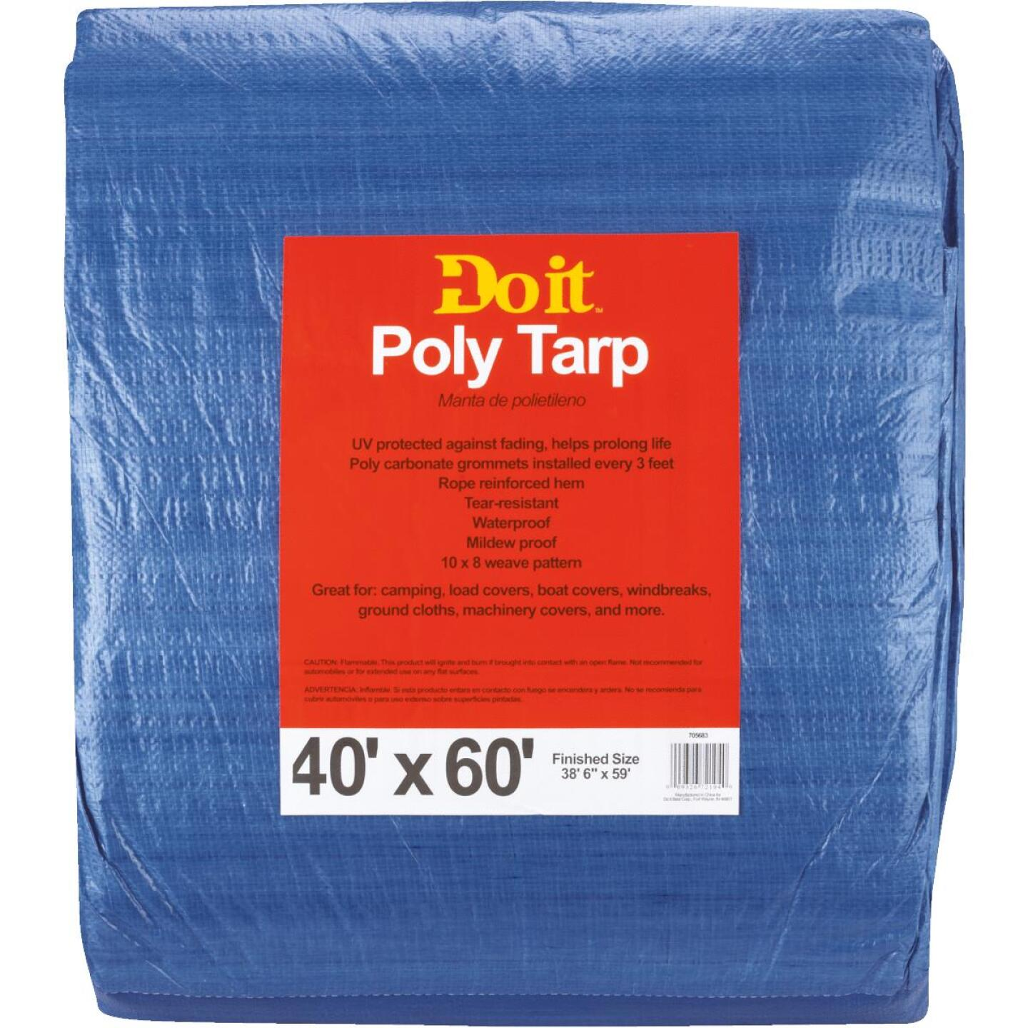 Do it Blue Woven 40 Ft. x 60 Ft. Medium Duty Poly Tarp Image 3