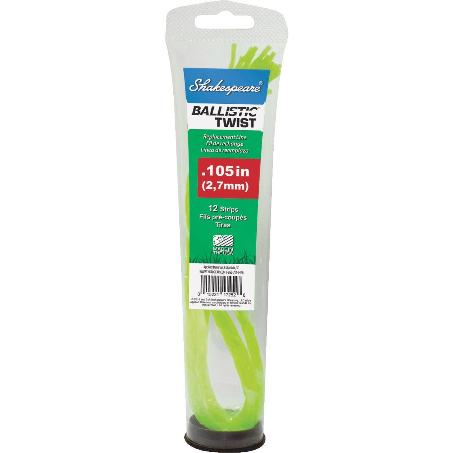 Shakespeare 0.105 In. x 12 In. Ballistic Twist Universal Pre-Cut Trimmer Line (12-Count) Image 1