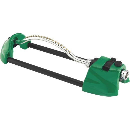 Dramm ColorStorm Heavy-Duty Metal 3000 Sq. Ft. Green Oscillating Sprinkler