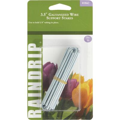Raindrip 1/4 In. Tubing Galvanized Wire U-Support Stake (20-Pack)