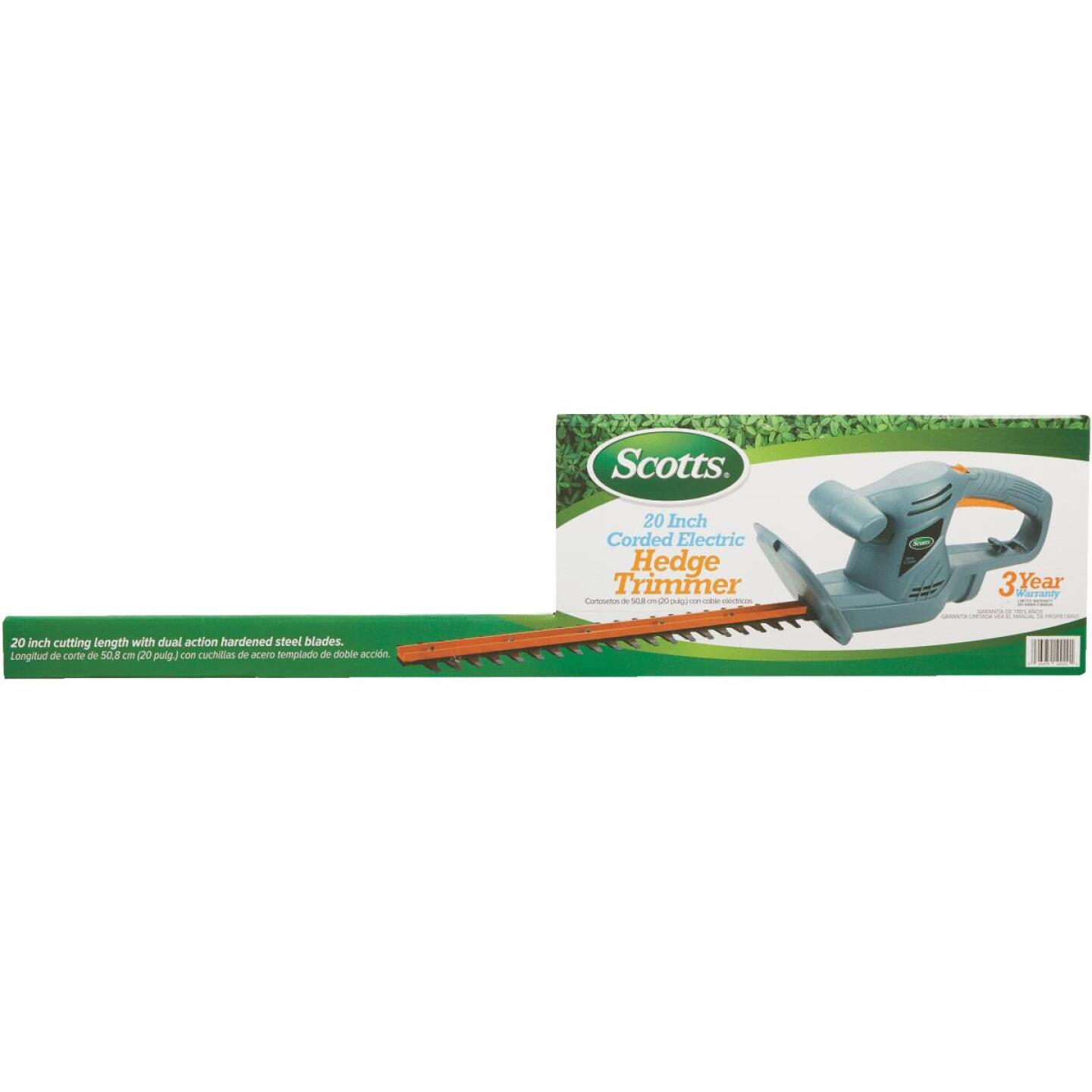 Scotts 20 In. Corded Electric Hedge Trimmer Image 2