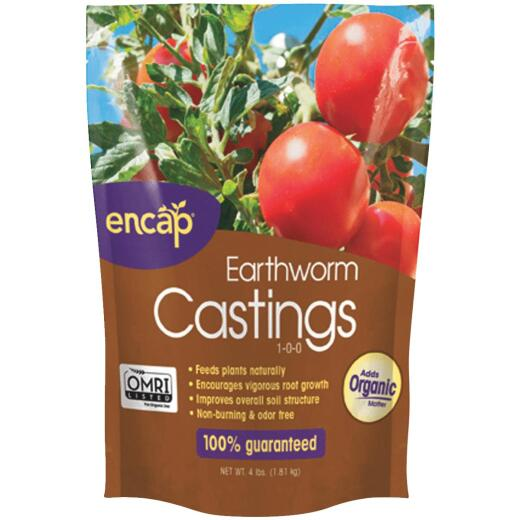 Encap 4 Lb. Earth Worm Castings Soil Conditioner