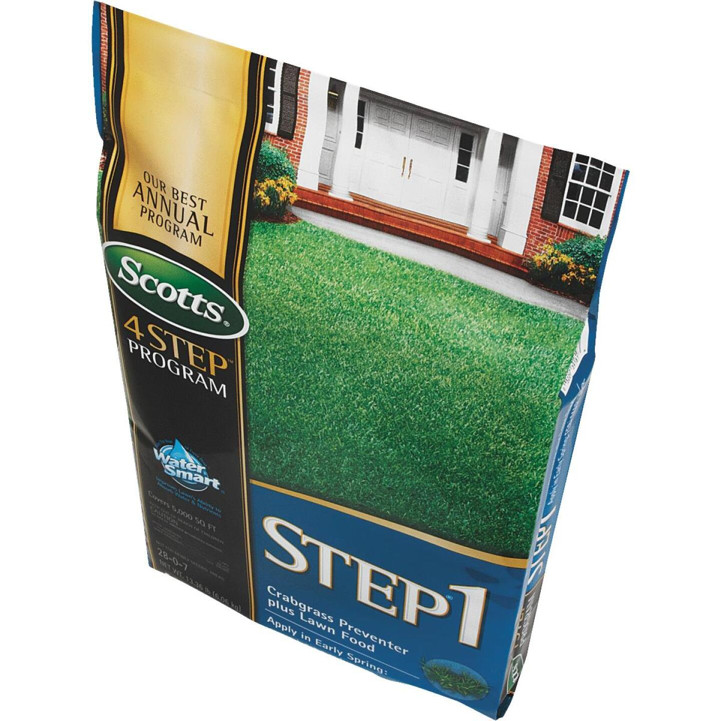 Scotts 4-Step Program Step 1 13.46 Lb. 5000 Sq. Ft. 28-0-7 Lawn Fertilizer with Crabgrass Preventer Image 3