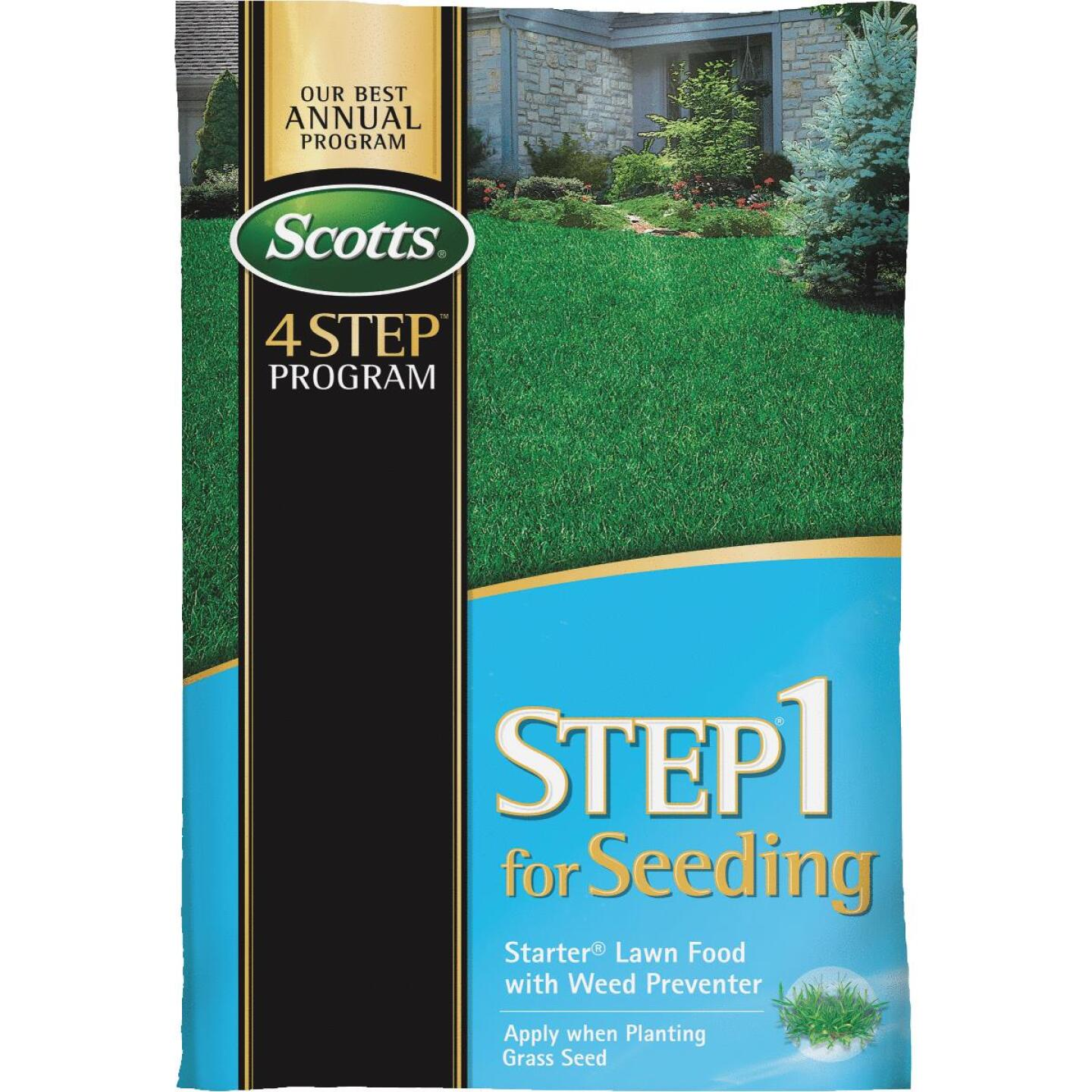 Scotts 4-Step Program Step 1 21.62 Lb. 5000 Sq. Ft. 21-22-4 Starter Fertilizer with Crabgrass Preventer Image 1