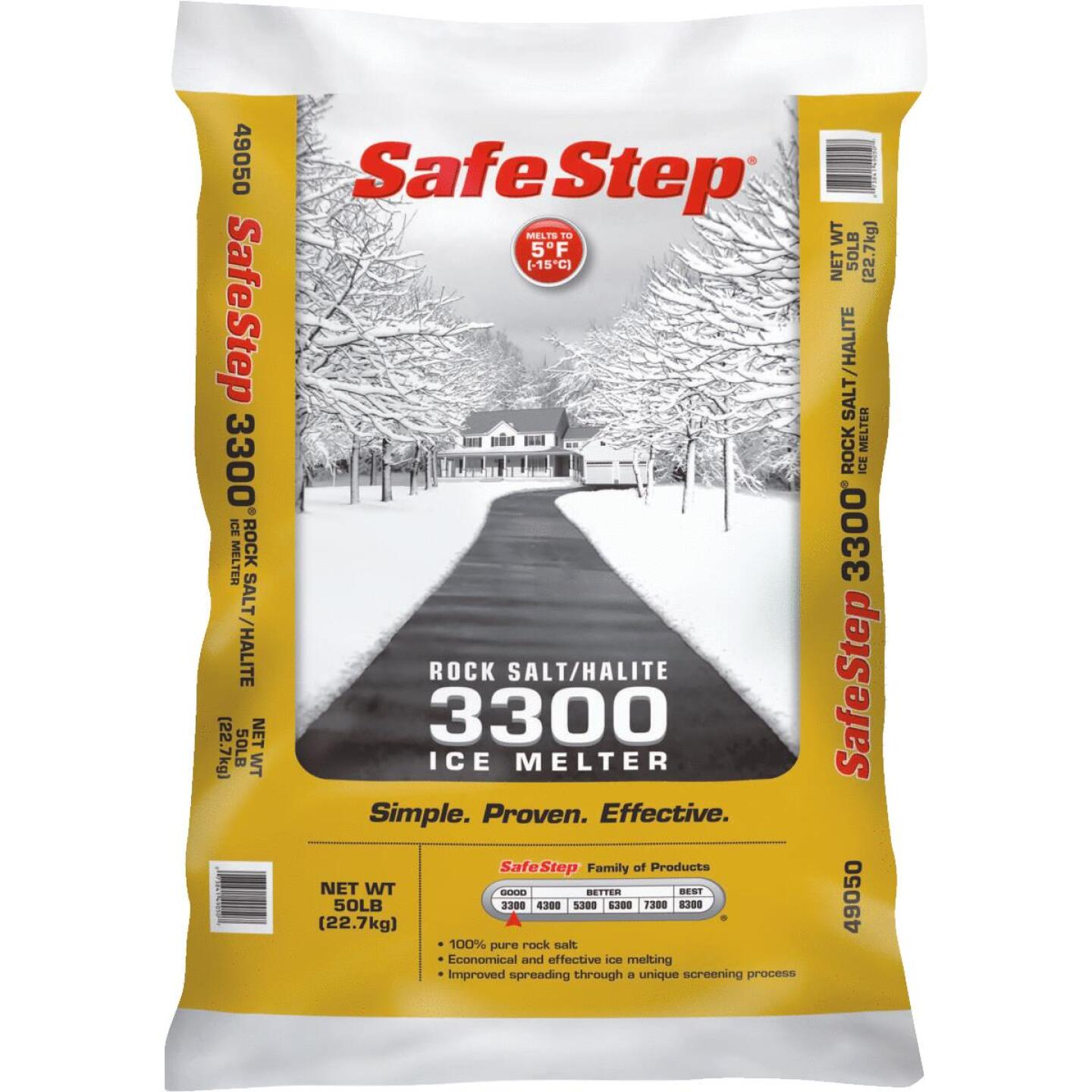 Safe Step 3300 50 Lb. Rock Salt/Halite Ice Melt Large Pellets Image 1