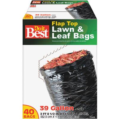Do it Best 39 Gal. Black Flap Tie Lawn & Leaf Bag (40-Count)