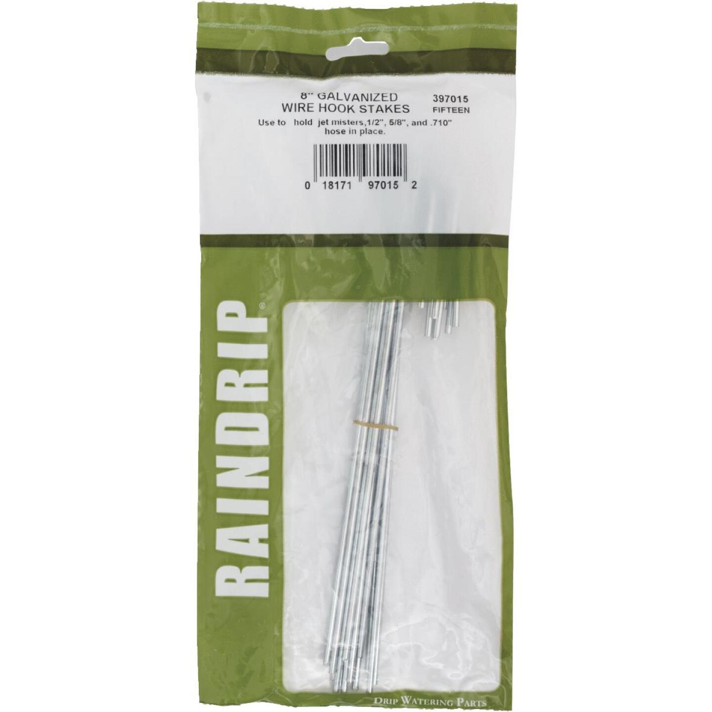 Raindrip 1/2, 5/8, 0.710 In. Tubing Hook Galvanized Wire Stake (15-Pack) Image 2