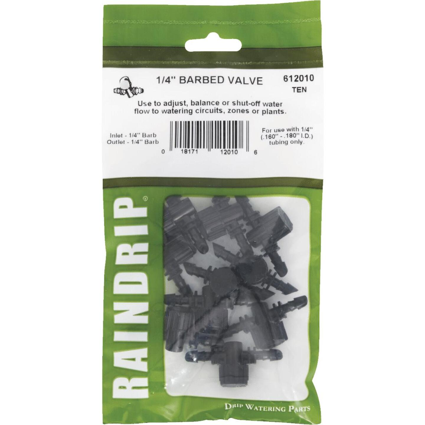 Raindrip 1/4 In. Double-Barbed In-Line Valve (10-Pack) Image 2
