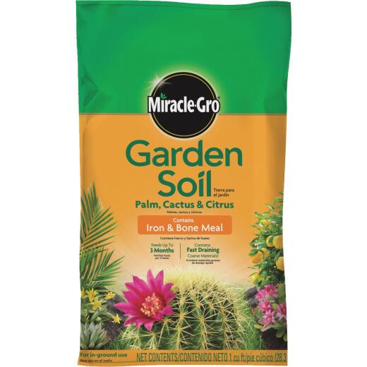 Miracle-Gro 1 Cu. Ft. 32 Lb. Cactus, Palm, Citrus Garden Soil