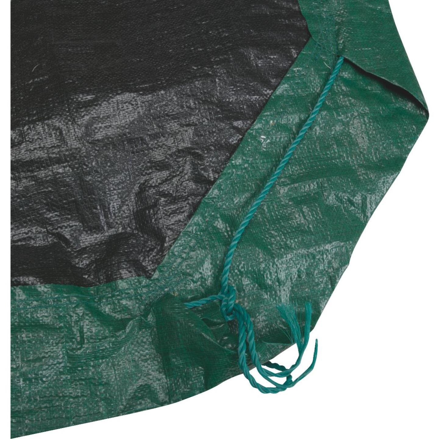 Do it 9 Ft. x 9 Ft. Poly Fabric Green Lawn Cleanup Tarp Image 2