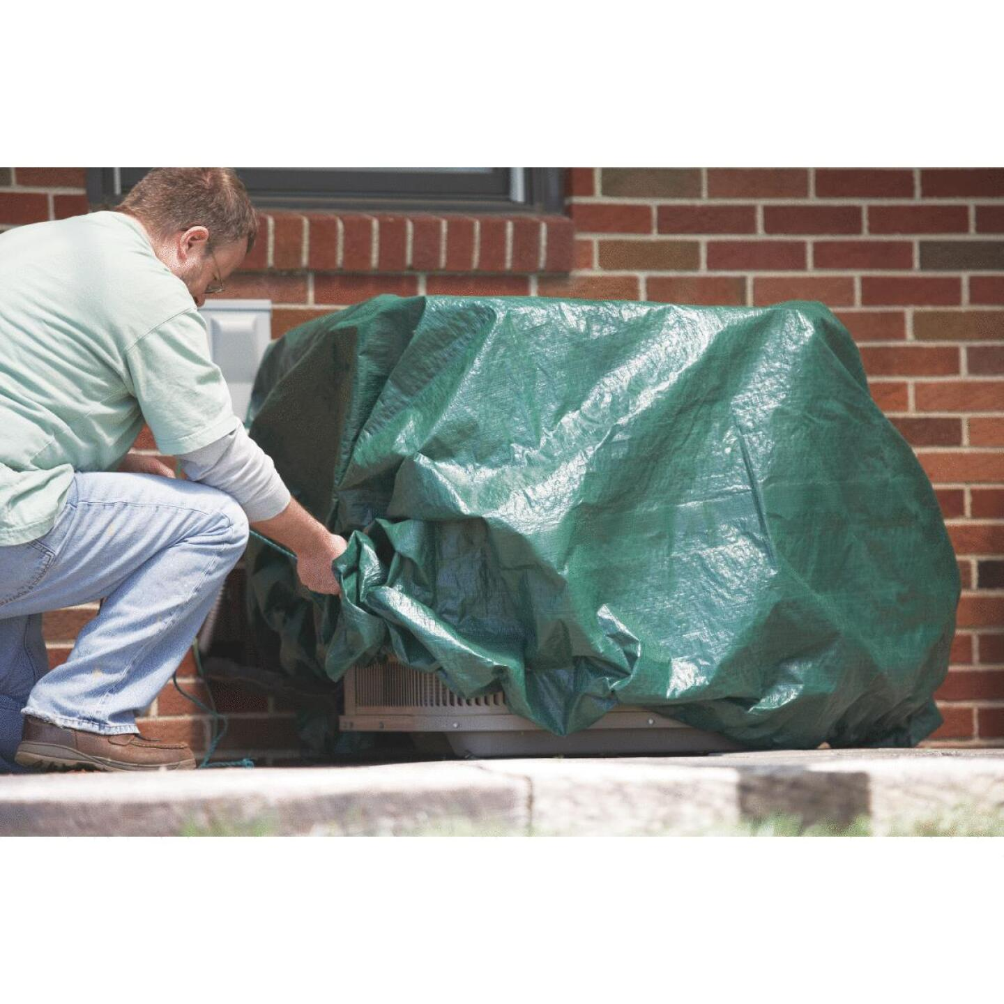 Do it 9 Ft. x 9 Ft. Poly Fabric Green Lawn Cleanup Tarp Image 5