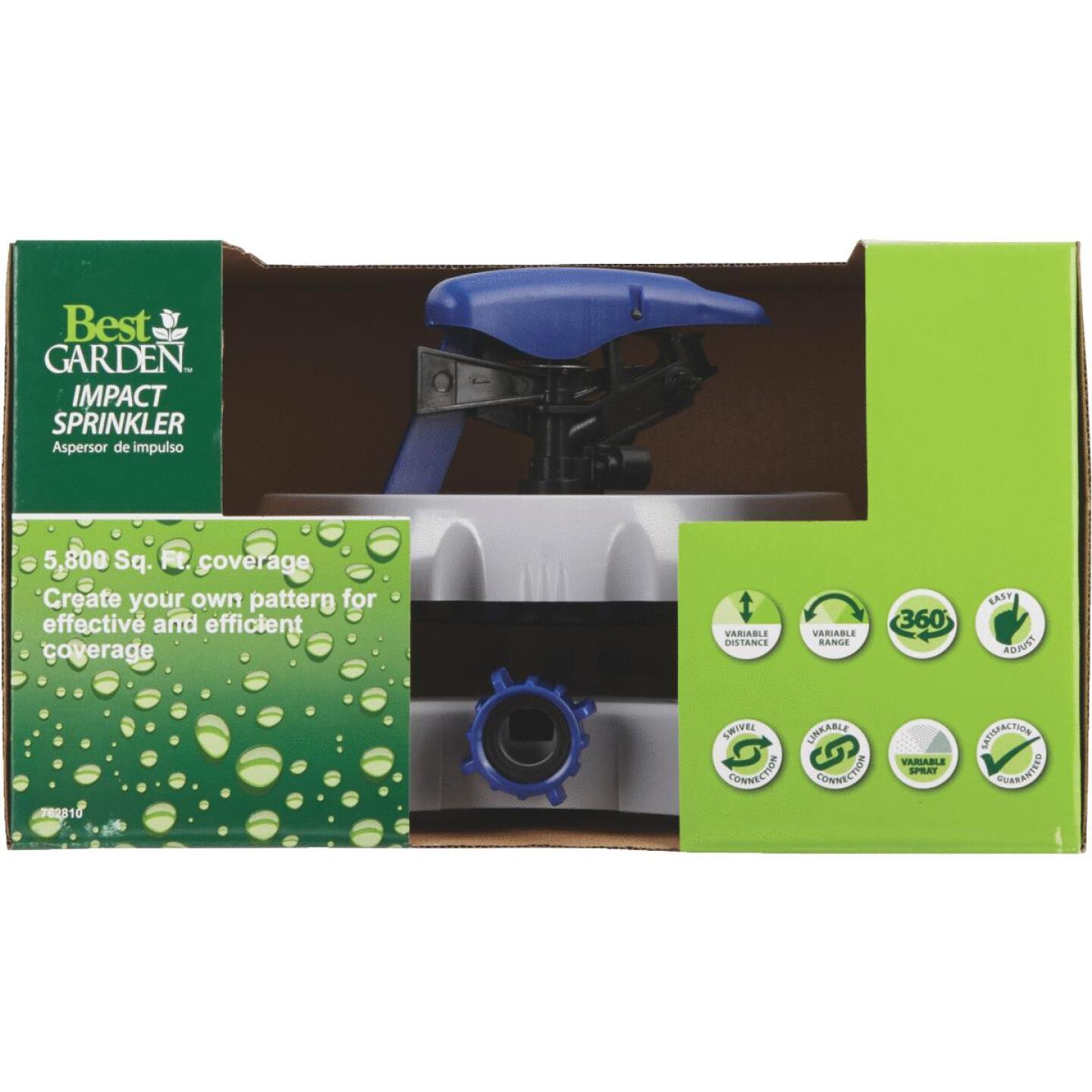 Best Garden Poly 5800 Sq. Ft. Sled Impulse Sprinkler with Programming Disc Image 2