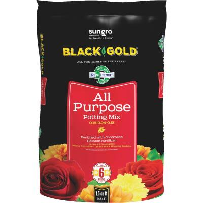 Black Gold 1.5 Cu. Ft. 37 Lb. All Purpose Potting Soil