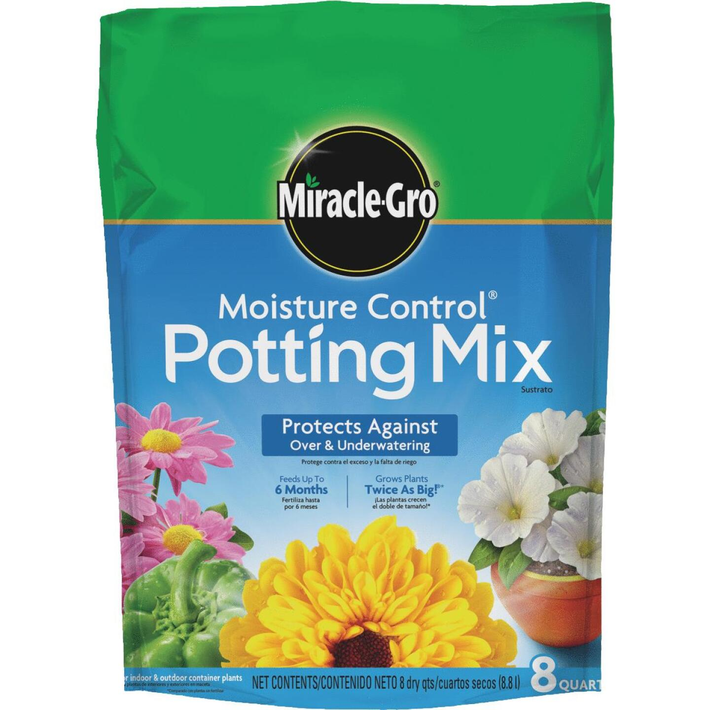 Miracle-Gro Moisture Control 8 Qt. Indoor & Outdoor Potting Soil Image 1