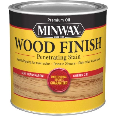 Minwax Wood Finish Penetrating Stain, Cherry, 1/2 Pt.