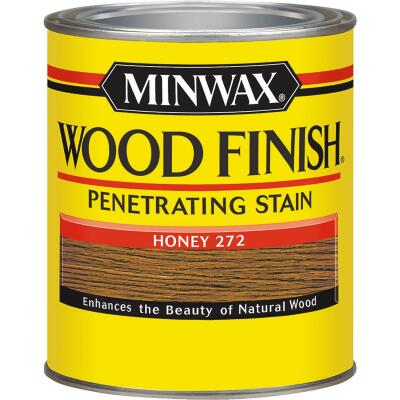 Minwax Wood Finish Penetrating Stain, Honey, 1/2 Pt.