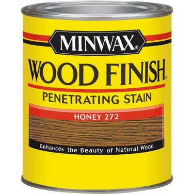 Minwax Wood Finish Penetrating Stain, Honey, 1 Qt.