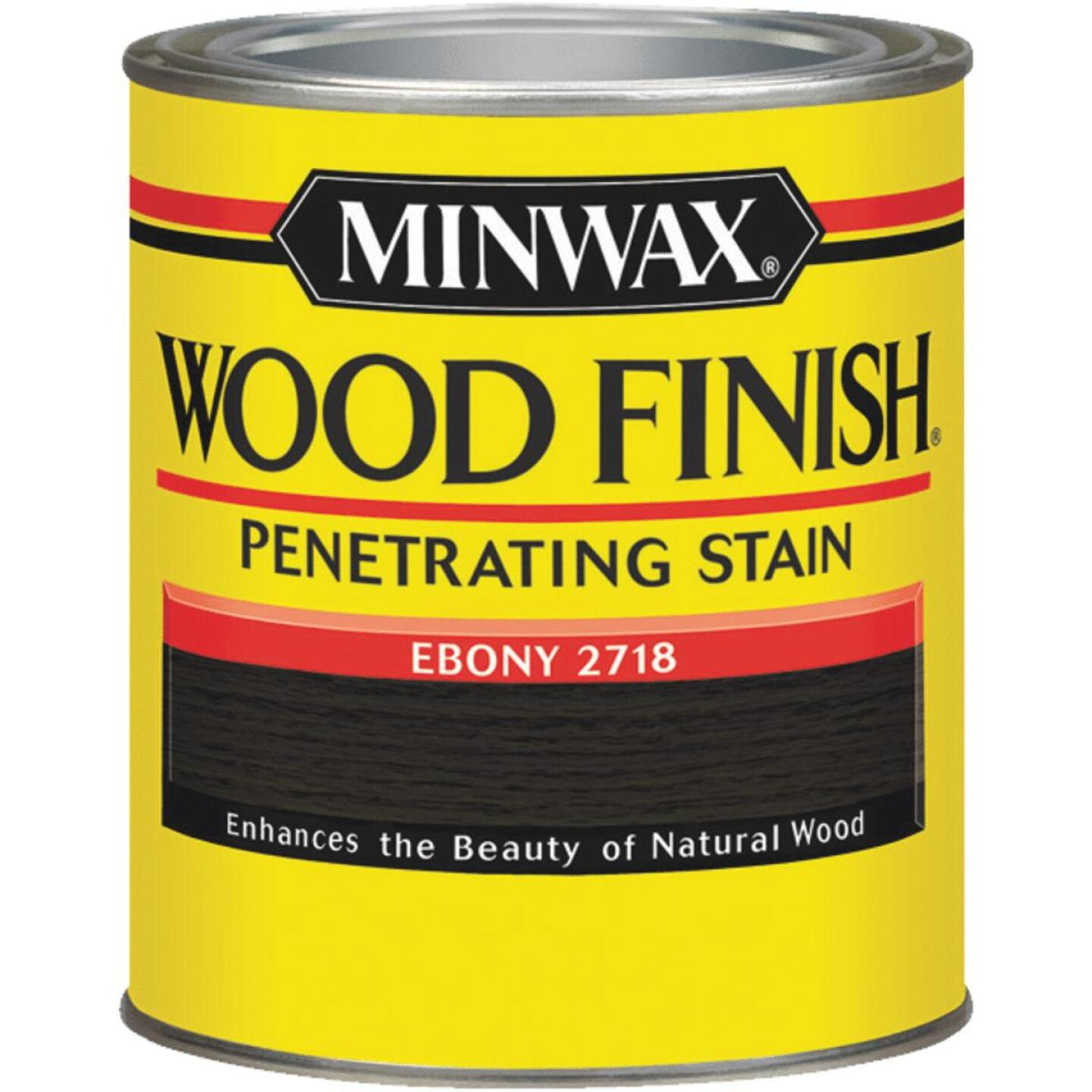 Minwax Wood Finish Penetrating Stain, Ebony, 1/2 Pt. Image 1