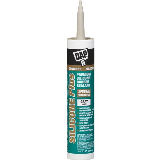Dap Silicone Plus Ready-To-Use 10.1 Oz Gray Concrete Sealant
