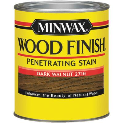 Minwax Wood Finish Penetrating Stain, Dark Walnut, 1/2 Pt.