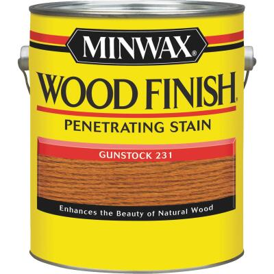 Minwax Wood Finish Penetrating Stain, Gunstock, 1 Gal.