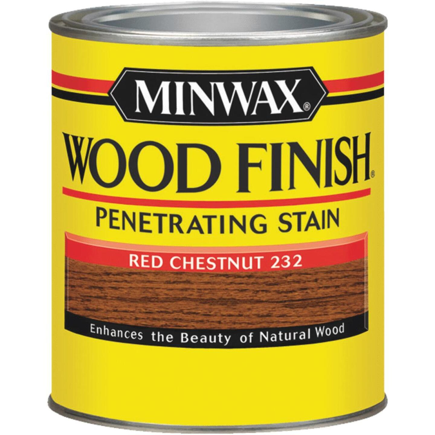 Minwax Wood Finish Penetrating Stain, Red Chestnut, 1/2 Pt. Image 1