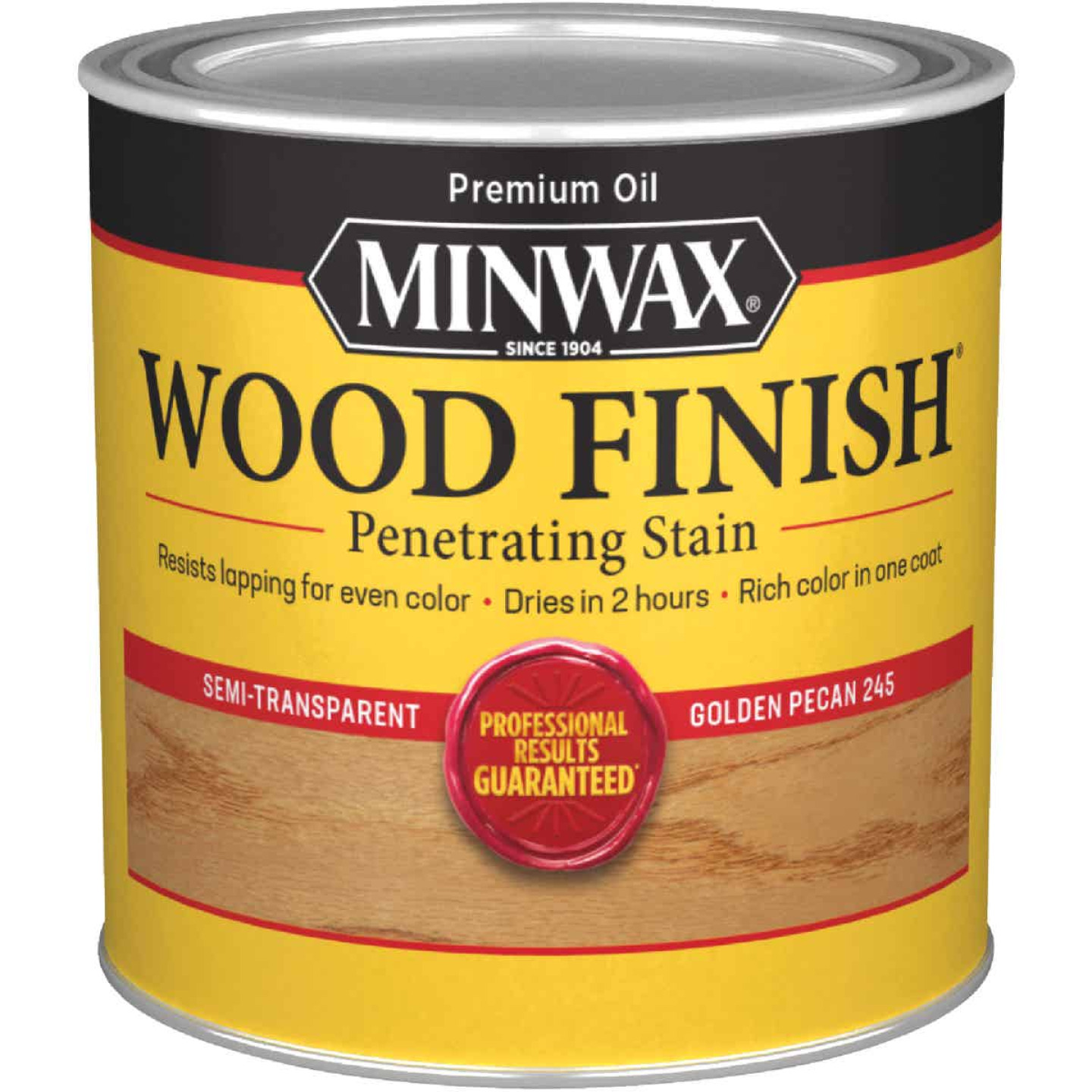 Minwax Wood Finish Penetrating Stain, Golden Pecan, 1/2 Pt. Image 1