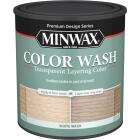 Minwax Water-Based White Wash Pickling Wood Stain, White, 1 Qt. Image 1