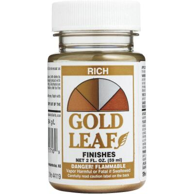 Sheffield Gold Leaf Rich Gold High Gloss Metallic 2 Fl Oz Hobby Paint