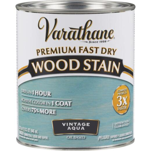 Varathane Fast Dry Vintage Aqua Urethane Modified Alkyd Interior Wood Stain, 1 Qt.
