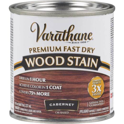 Varathane Fast Dry Cabernet Urethane Modified Alkyd Interior Wood Stain, 1/2 Pt.