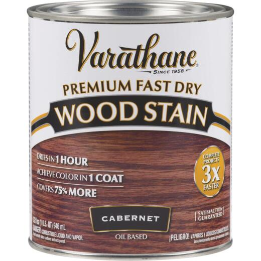 Varathane Fast Dry Cabernet Urethane Modified Alkyd Interior Wood Stain, 1 Qt.